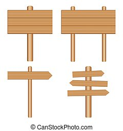 vector wooden signs, plaque