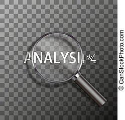 vector word in magnifying glass