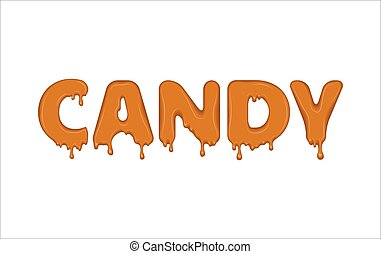 Vector word made of candy.