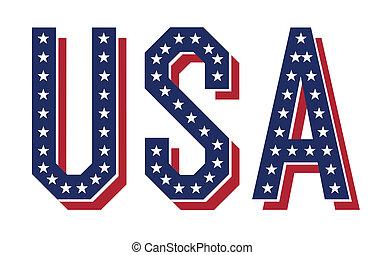 Vector word of USA, EPS10.