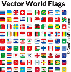 Vector World Flags - This is a simple, clean and unique set...
