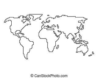 Abstract simplified world map made Business abstract stock