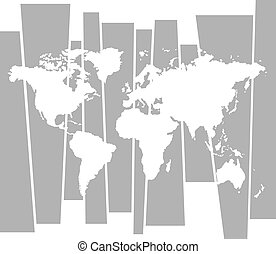 vector World map graphic concept background
