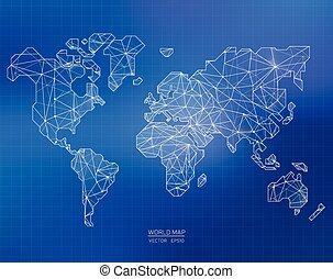 World map with animals vector illustration in cartoon style world vector world map illustration in polygonal style gumiabroncs Images