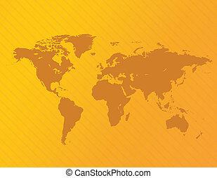 Vector World Map Illustration