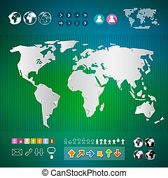 Origami world map polygonal earth vector infographics origami vector world map infographics template gumiabroncs Gallery