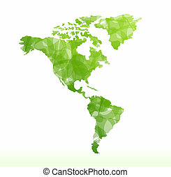 Vector world map isolated - Vector world map green isolated