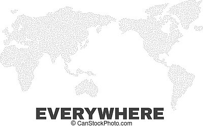 Vector World Map of Dots