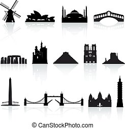 Vector World Monuments set 2 - A collection of vector icons...