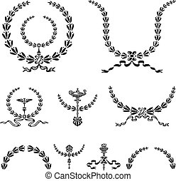 Vector Wreath and Ornament Set