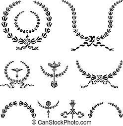 Vector Wreath and Ornament Set