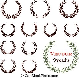 A set of 12 wreath ornaments. Objects are grouped individually for easy editing.