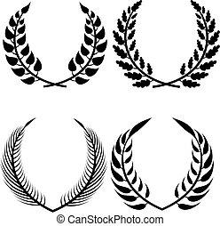 vector wreaths set