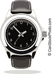 vector wristwatch icon