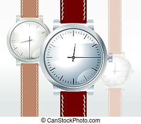 wristwatch - vector wristwatch on white background