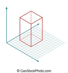 vector, x, z, eje, y, dirección