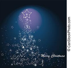 vector xmas greeting card