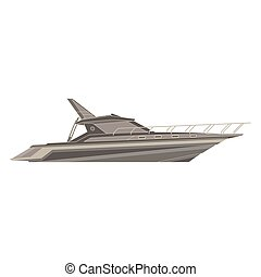Vector yacht flat icon isolated.