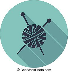 vector yarn ball knit icon