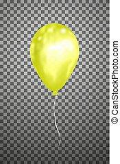 Vector yellow air balloon. Eps10.