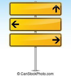 Vector yellow arrows signs