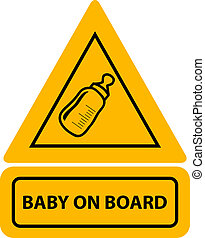 Vector yellow baby on board sign