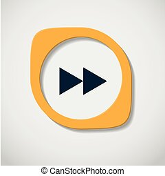 vector yellow button on a white background