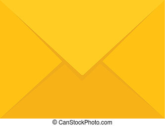 Vector Yellow Envelope Flat Icon