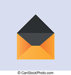 vector yellow envelope icon eps10