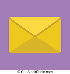 Vector Yellow Envelope Icon