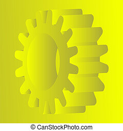 vector yellow gear