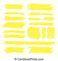 Vector Yellow Highlighter Set