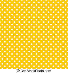 Vector yellow polka dots background - Seamless vector...