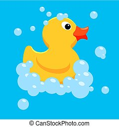 vector yellow rubber duck toy
