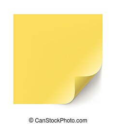 Vector yellow sticker paper