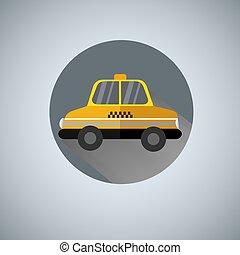 Vector yellow taxi logo