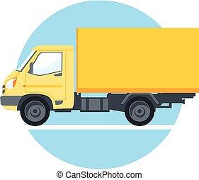 Vector yellow truck