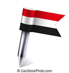 Vector Yemen flag isolated on white. Eps10