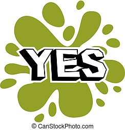 Vector yes checkbox with green checkmark. Confirmation symbol isolated on white.