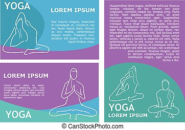 vector yoga flyer template