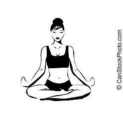 Vector yoga illustration
