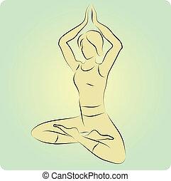 Vector yoga pose.