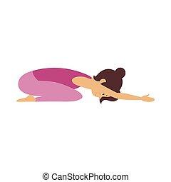 Vector Yoga Pose