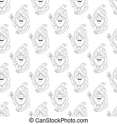 Vector yoga seamless pattern