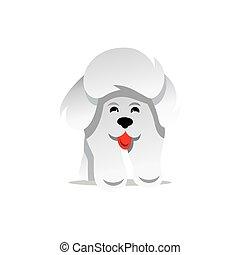 Vector Yorkshire Terrier Dog Cartoon Illustration.