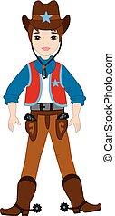 Vector Young Cowboy