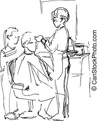 man in the barber shop at the maste