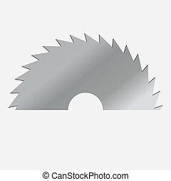 vector, zaag, illustratie, circulaire