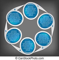 vector, zakelijk, banieren, anders, kleurrijke, circulaire, illustratie, concept, design.