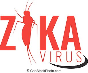 Vector Zika virus logo, symbol or sign. Aedes Aegypti...